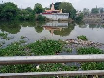 Granskningsida som är tempal av Lucknow uttar predesh Indien arkivbild