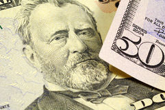Grant. President Grant on the Fifty Dollar Bill royalty free stock photo