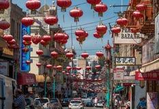 Grant Ave dans Chinatown, San Francisco, CA, Etats-Unis images libres de droits