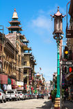 Grant Avenue in Chinatown, San Francisco Royalty Free Stock Image