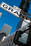 Grant Avenue-straatteken Royalty-vrije Stock Afbeeldingen