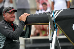 Grant Dalton at America's Cup. Valencia, Spain - Emirates Team New Zealand's Grant Dalton in final match of 32nd America's Cup with Switzerland's Alinghi in Stock Images