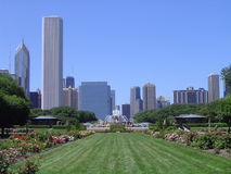 Grant Park - Chicago. View of Grant Park, Chicago, Illinios Stock Photos