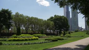 Grant-Park in Chicago stock footage