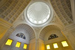 Grant's Tomb in New York City, USA. Wide angle of interior of Grant's Tomb in New York City, USA. Grant's Tomb honors America's 18th Royalty Free Stock Image