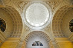 Grant's Tomb in New York City, USA. Wide angle of interior of Grant's Tomb in New York City, USA. Grant's Tomb honors America's 18th Royalty Free Stock Photo