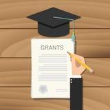 Grant-Stipendiumkonzeptklemmbrett-Dokumentencollege Stockfotografie