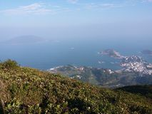 Grant view of Shek O Wan. A shot from Hill Royalty Free Stock Photography