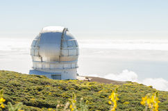Grantecan in Roque de los Muchachos Observatory in La Palma. Stock Images