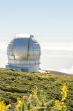 Grantecan in Roque de los Muchachos Observatory in La Palma. Stock Photos