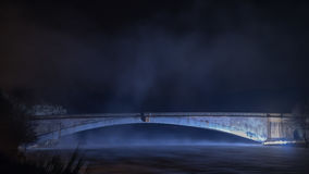 Grantown on Spey bridge by night Stock Images