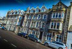 Grantown On Spey view of Grand View House Nursing Home royalty free stock images