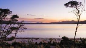 Grants Lagoon. Near Binalong Bay Tasmania Australia Royalty Free Stock Photo