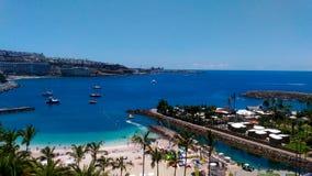 Granu Canaria Anfi Del Mącący plaża Obraz Royalty Free