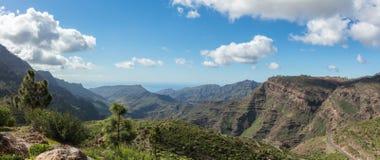 Granu Canaria panoramy góry krajobraz Fotografia Royalty Free