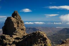 Granu Canaria Roque Nublo krajobraz Zdjęcia Royalty Free