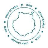Granu Canaria wektorowa mapa Fotografia Royalty Free