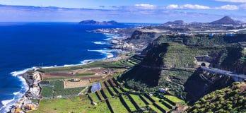Granu Canaria wyspa - panoramiczny widok zdjęcia stock