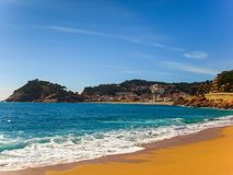 Granu Playa plaża w Tossa De Mar obrazy stock