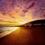 Granu Tarajal plaży Fuerteventura wyspy kanaryjska zdjęcie stock