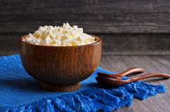 Granular cheese Stock Image