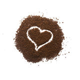 Granular coffee heart sign Stock Images