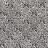 Granular Paving Slabs. Seamless Tileable Texture. Gray Granular Decorative Pavement. Seamless Tileable Texture Stock Photo