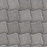 Granular Paving Slabs. Seamless Tileable Texture. Gray Granular Pavement of Figured Squares. Seamless Tileable Texture Stock Photo
