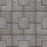 Granular Paving Slabs. Seamless Tileable Texture. Gray Granular Pavement of Squares. Seamless Tileable Texture Royalty Free Stock Images