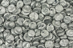 Granular silver metal  background Royalty Free Stock Photo