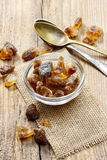 Granulated brown sugar Stock Image