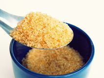 Granulated Brown Sugar Royalty Free Stock Images