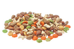 Granulated feed for cats and dogs. Royalty Free Stock Images