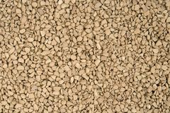 Granulated soluble dry coffee macro Stock Photo