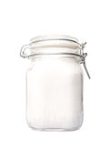 Granulated Sugar In Glass Jar V Stock Photos