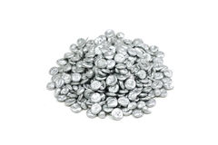 Granulated zinc brilliant Stock Photos