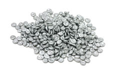 Granulated zinc brilliant Stock Photography