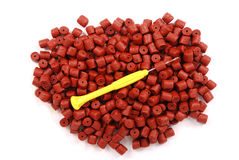 Granule de flétan perforé par rouge Image stock