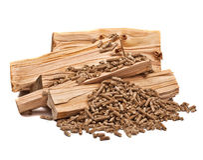 Granule en bois Image libre de droits