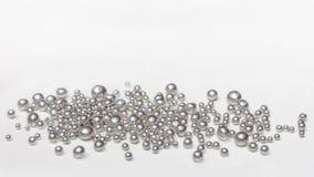 Granules argentés Image stock