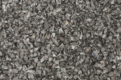 Granules of coal marco Royalty Free Stock Images
