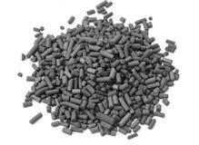 Granules de charbon actif Photos libres de droits