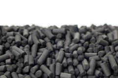 Granules de charbon actif Photographie stock