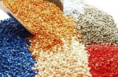 Granules de plastique Photographie stock libre de droits