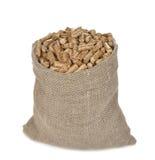 Granules en bois dans le sac Photo libre de droits