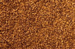 Granules of instant coffee Stock Photos