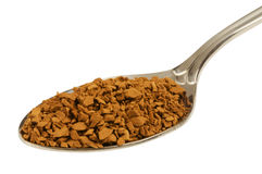 Granules Of Instant Coffee In The Spoon Royalty Free Stock Images