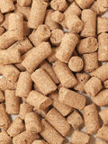 Granules of Wheat Bran background.  for horses Stock Photography