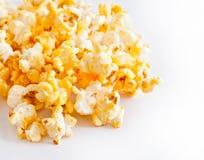 Granuli salati del popcorn Fotografie Stock
