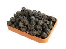 granuli zielona herbata zdjęcia royalty free